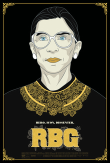 RBG film poster - introvert hero