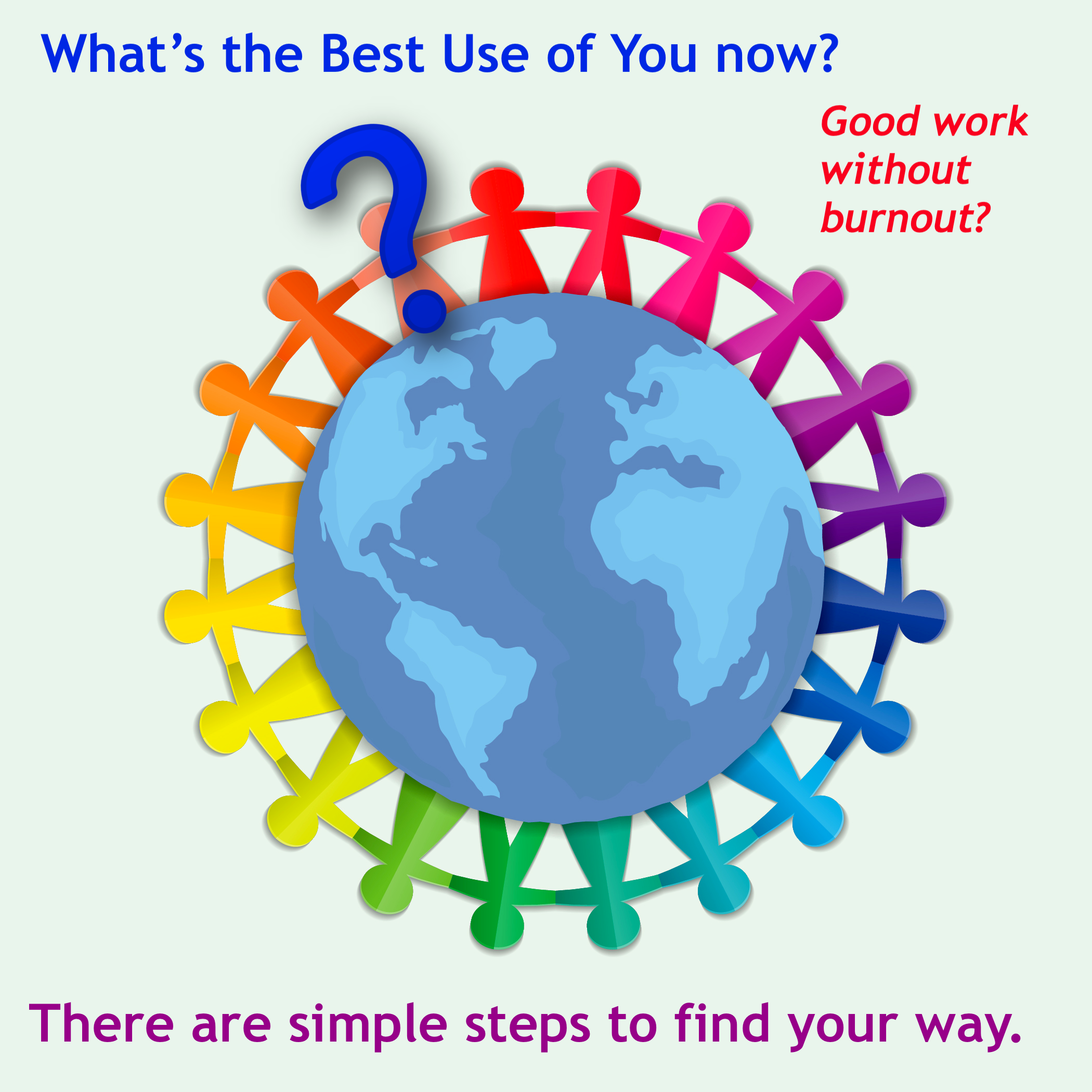 What is the best use of you? Good work without burnout? There are simple steps to find your way.