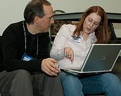 Photo: Connecting at PodCamp