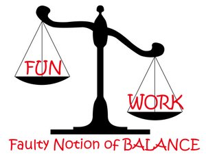 Faulty notion of balance on a scale