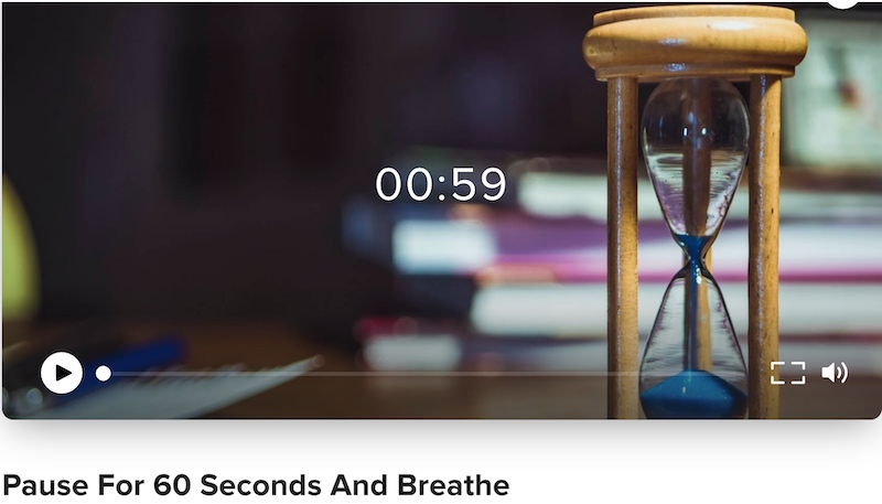 click for guided 60 seconds pause