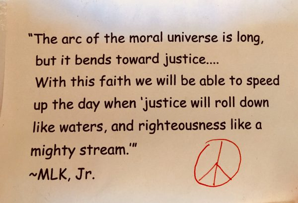 MLK quote - bends toward justice