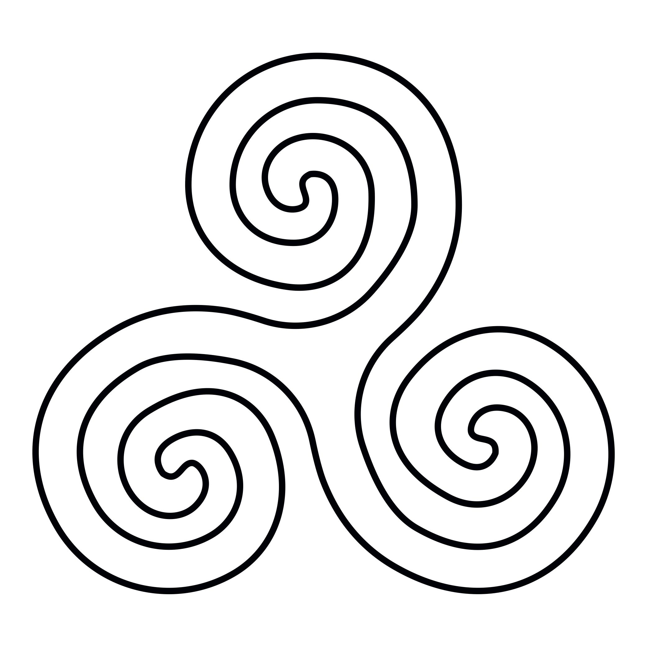 Triskele - symbol of natural rhythms
